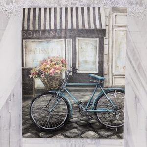 Boulange Blue Bicycle French Print Wall Art